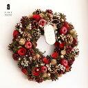 【送料無料】クリスマスリース 輸入リースLサイズ 直径約30.5〜41cm【15時迄の注文であす楽】リース クリスマスプレゼ…
