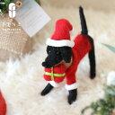 ポータードッグ【RN-10】【15時までのご注文であす楽】クリスマス雑貨 サンタクロース アニマル オブジェ プレゼント …