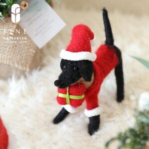 ポータードッグ【RN-10】【15時までのご注文であす楽】クリスマス雑貨 サンタクロース アニマル オブジェ プレゼント ギフト 置物 北欧 店舗装飾