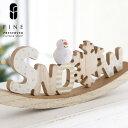 スノークレードルサイン【15時までのご注文であす楽】クリスマス雑貨 インテリア サイン ウッドインテリア スノーマン…