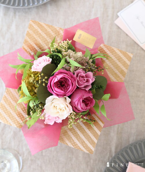 プリザーブドフラワー/アレンジメント/インテリア/ディスプレイ/誕生日/結婚祝い/ローズ/アレンジメント/恋人/ギフト/インテリア/ピンク/バラ