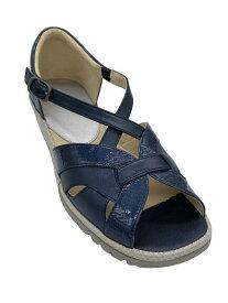 【アシックス ペダラ】PEDALA 1212A120 400 サンダル ウォーキング 3Eシンプル 脱げにくい 履きやすい 疲れにくい 軽い 婦人靴 天然皮革お散歩に ウォーキングに 旅行に カラー ネイビー レディース 靴