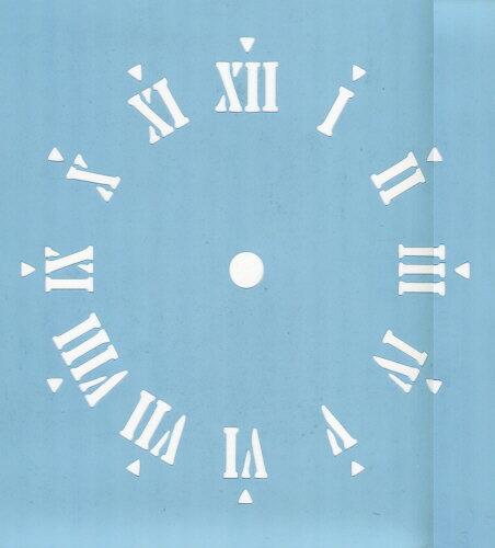 ファインホームのステンシルシート 時計文字(ローマ数字) fh-826
