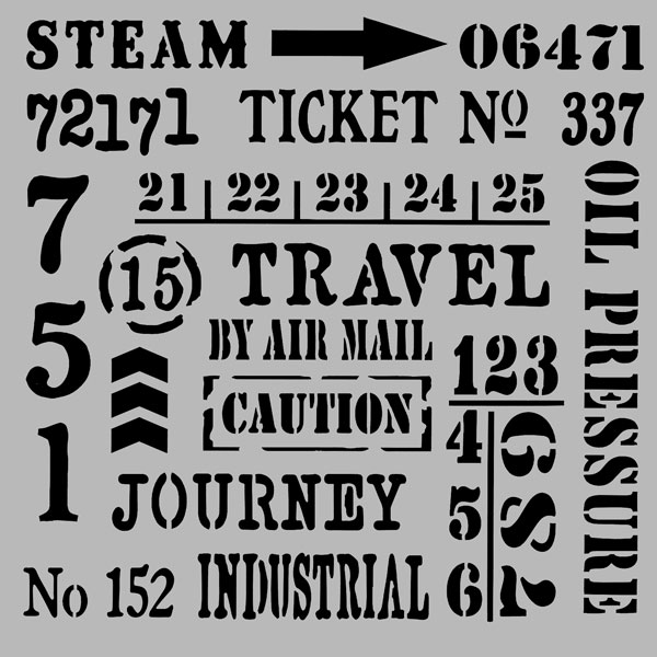 デコアートステンシルシート 670-2107