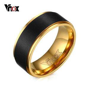 【送料無料】 指輪 メンズ 黒 ブラック ステンレス リング おしゃれ 大人 ゴールド 結婚式 バンド