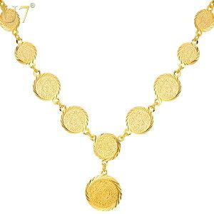 【送料無料】 エチオピア ジュエリー ファッション ネックレス ペンダント トレンド 流行 人気 ゴールド アンティーク コイン レディース 倫理