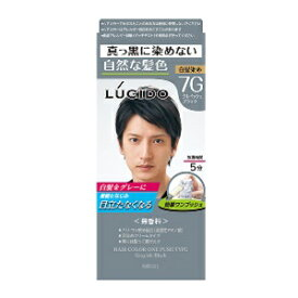 【マンダム】 ルシード (LUCIDO) ワンプッシュケアカラー 7G グレイッシュブラック 50g+50g (医薬部外品) 【化粧品】