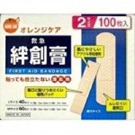 【オレンジケアプロダクツ】 救急絆創膏 S・M 2サイズ 100枚入 【衛生用品】