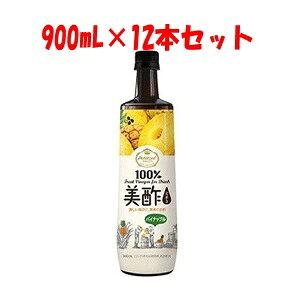 【シージェイジャパン】 美酢 (ミチョ) パイナップル 900mL×12本セット 【フード・飲料】