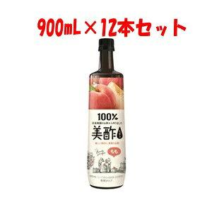 【シージェイジャパン】 美酢 (ミチョ) もも 900mL×12本セット 【フード・飲料】