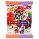 【オリヒロ】 ぷるんと蒟蒻ゼリー アップル+グレープ 20g×12個入 【フード・飲料】