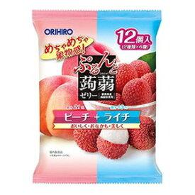 【オリヒロ】 ぷるんと蒟蒻ゼリー ピーチ+ライチ 20g×12個入 【フード・飲料】