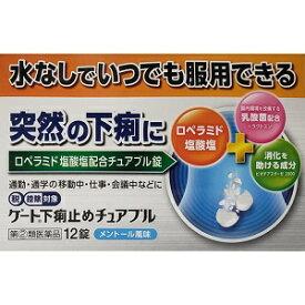 【日野薬品工業】 ゲート下痢止めチュアブル 12錠 【第(2)類医薬品】