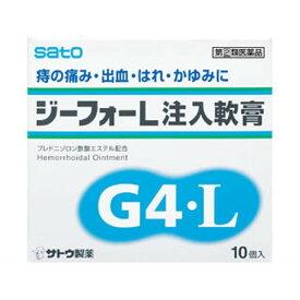 【サトウ製薬】 ジーフォーL注入軟膏 10個入り 【第(2)類医薬品】