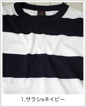 太ボーダー半袖Tシャツ