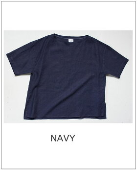 ORCIVAL(オーチバル)リネンクロスプルオーバーシャツボートネック半袖シャツ[Lady's]