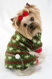 【HIP DOGGIE】冬物20%OFFアウトレット Fuzzy Snow Jumper XS-M 犬 服 小型 子犬 中型 おしゃれ かわいい 防寒 暖かい フリース クリスマス 雪ツリー 秋 冬 10FZSF