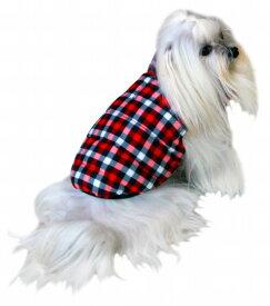 【HIP DOGGIE】冬物20%OFFアウトレット Gingham Reversble Puufer Vest XS-M 犬 服 小型 子犬 中型 おしゃれ かわいい 防寒 暖かい チェック シンプル リバーシブル ベスト 秋 冬 5GHRD 5GHBK