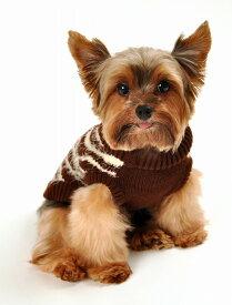 【HIP DOGGIE】冬物20%OFFアウトレット Feathersoft Sweater Zebra XS-M 犬 服 小型 子犬 中型 おしゃれ かわいい 防寒 暖かい セーター 秋 冬 ゼブラ柄 ハイネックニット 7FSZB