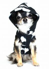 【HIP DOGGIE】冬物20%OFFアウトレット Polar Fleece Hoodie XXS-M 犬 服 小型 子犬 中型 おしゃれ かわいい 防寒 暖かい パーカー ヒョウ柄 ドクロ かっこいい 秋 冬 7PFBS 7PFLP
