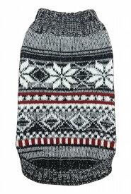 【HIP DOGGIE】冬物20%OFFアウトレット Snow Sky Sweater XS-M 犬 服 小型 子犬 中型 おしゃれ かわいい 防寒 暖かい セーター ニット スノー 雪柄 秋 冬 7SNSK