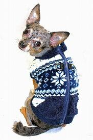 定形外郵便可【HIP DOGGIE】冬物20%OFFアウトレット Soft Snow Flake Fleece Vest XS-M 犬 服 小型 子犬 中型 おしゃれ かわいい 防寒 暖かい スノー柄 ベスト フリース 秋 冬 7SVW 7SVN