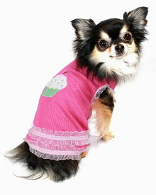 【HIP DOGGIE】10%OFF アウトレット HD Strawberry Cupcake Tank XXS-M 犬 服 小型 子犬 中型 おしゃれ かわいい 春 夏 カップケーキ タンクトップ 1PSC