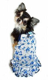 【HIP DOGGIE】10%OFF アウトレット HD Blue Rose Dress XXS-M 犬 服 小型 子犬 中型 おしゃれ かわいい 春 夏 ドレス バラ 3BRD