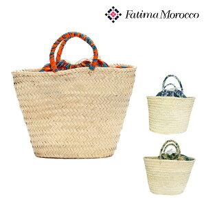 【処分品】Fatima Morocco(ファティマモロッコ)アフリカンプリント巾着バスケットL カゴバッグ・かご・籠・ストロー・編み・アフリカンテキスタイル ポイントアップ
