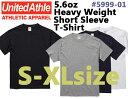 【S-XLサイズ】5.6ozヘヴィーウェイト Tシャツ(UNITED ATHLE/ユナイテッドアスレ)【厚手・無地半袖】メンズ・・男…