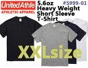 【XXLサイズ】5.6ozヘヴィーウェイト Tシャツ(UNITED ATHLE/ユナイテッドアスレ)【厚手・無地半袖】メンズ・・男女…