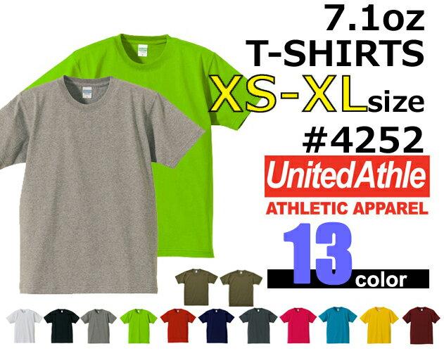 【XS-XL】オーセンティックスーパーヘヴィーTシャツ(UNITED ATHLE/ユナイテッドアスレ)【7.1oz厚手・無地半袖】USコットン・メンズ・・男女兼用4252-01UnitedAthle【2017ss】【1117】