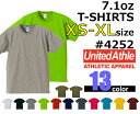 【XS-XL】オーセンティックスーパーヘヴィーTシャツ(UNITED ATHLE/ユナイテッドアスレ)【7.1oz厚手・無地半袖】USコットン・メンズ・・男女兼用4252-01UnitedAthle【