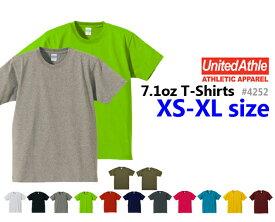 【XS-XL】オーセンティックスーパーヘヴィーTシャツ(UNITED ATHLE/ユナイテッドアスレ)【7.1oz厚手・無地半袖】USコットン・メンズ・・男女兼用4252-01UnitedAthle【1114】