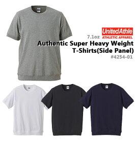 無地Tシャツ/オーセンティックスーパーヘヴィーウェイト Tシャツ UNITED ATHLE(ユナイテッドアスレ)(サイドパネル・オープンエンドヤーン)【7.1oz 厚手半袖・メンズ】4254-01SMLXLUnitedAthle【1118】