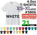 【XS-XLサイズ】【ホワイト】4.0oz Tシャツ【薄手・無地】【deslawear(デラウエア)】・半袖・5806-01・メンズ・・男女兼用UNITED ATHLE(ユナイテッドアスレ)【830】