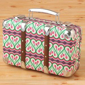 【送料無料(沖縄1500円)】KAZETO(カゼト)【布張りスーツケース クロックダンス30cmサイズ】suitcase/バッグ・BAG・かばん・鞄