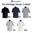 チャンピオン 7オンス ヘリテージジャージーTシャツ【Champion Heritage Jersey T-Shirts】2102(袖にロゴ入り)【厚手無地半袖メンズ】【0420】