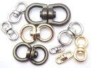 回転カン 15mm(丸)シルバー 日本製 首輪金具
