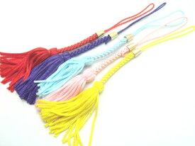 ストラップ 紐 根付ヒモ(房付)カラー 単価48円(99個以下価格設定)