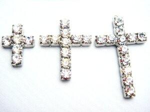 チャーム ダイヤクロス(十字架)17ミリ ゴールド