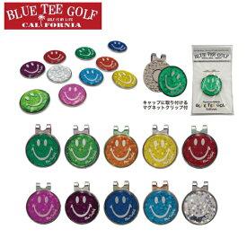 ゴルフ ホログラム クリップ&マーカー ブルーティーゴルフ ゴルフマーカー 磁石 台座付き BLUE TEE GOLF