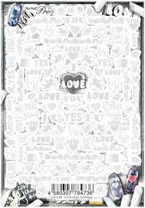 ★【ネコポス可】写ネイルPro LOVE チョークアート ホワイト