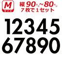 ゼッケン ナンバー ステッカー 数字 Mサイズ7枚選べる数字とカラーとサイズ