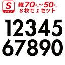 ゼッケン ナンバー 数字 ステッカー Sサイズ8枚選べる数字とカラーとサイズ