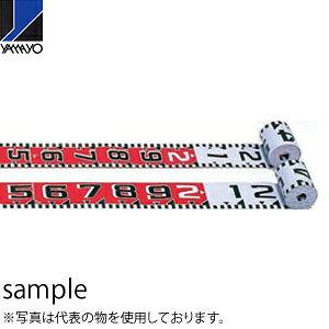 ヤマヨ測定器 リボンロッド両サイド120E1 R12A10 10m 遠距離用現場記録写真用巻尺