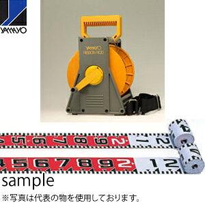 ヤマヨ測定器 リボンロッド両サイド120E1 ケース入 R12A20M 20m 遠距離用現場記録写真用巻尺