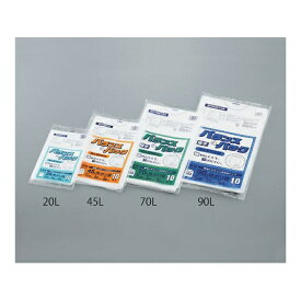 アズワン HDゴミ袋 45L 半透明 10枚入 1袋(10枚入り) [3-9857-02]