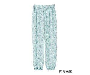 アズワン 上下別売りパジャマ(婦人用)パンツサックスS 1枚 [7-6159-01]