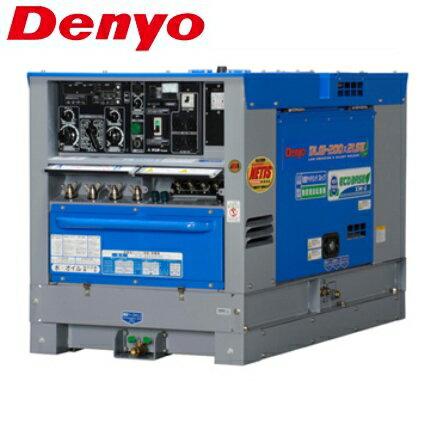 デンヨー 防低騒音型ディーゼルエンジン溶接機 DLW-200x2LSE